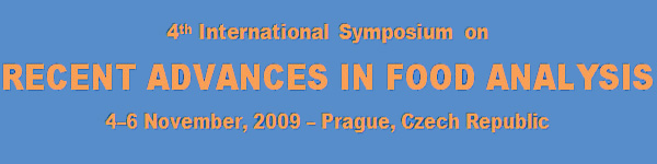 RAFA 2009 - RECENT ADVANCES IN FOOD ANALYSIS